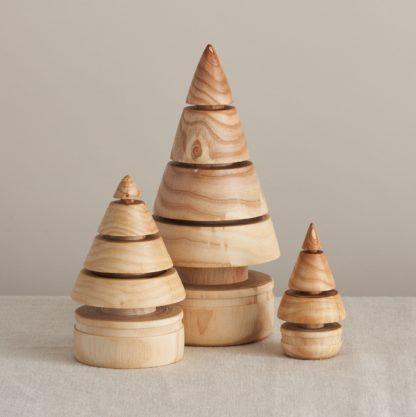 solid wood christmas tree set