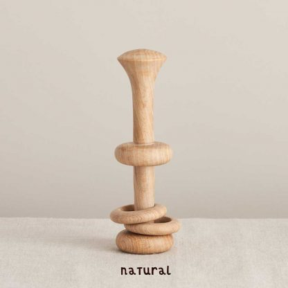 natural beechwood rattle