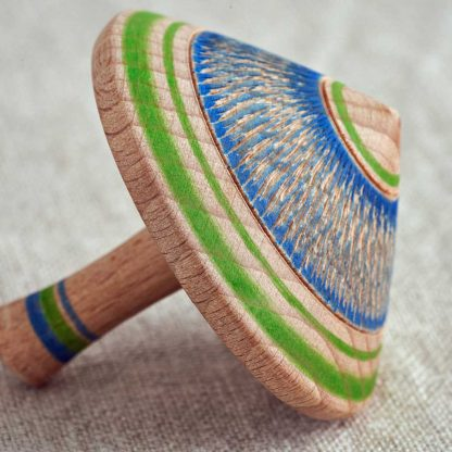 wooden spinning top detail
