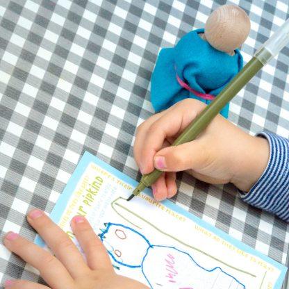 making a peg doll