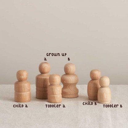 unique wooden peg dolls