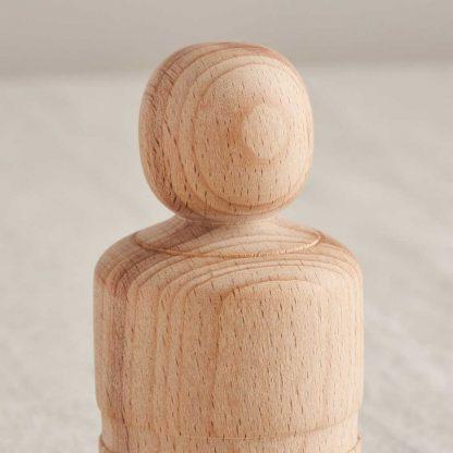 wooden peg doll detail