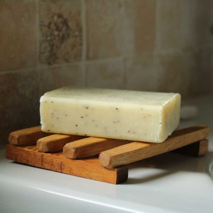 large wooden soap dish