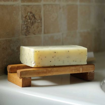 small wooden soap dish