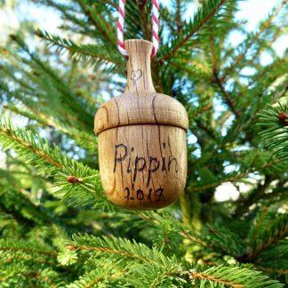 wooden acorn ornaments