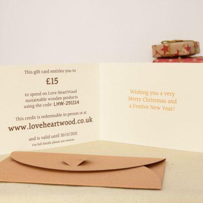 love heartwood christmas gift card inside