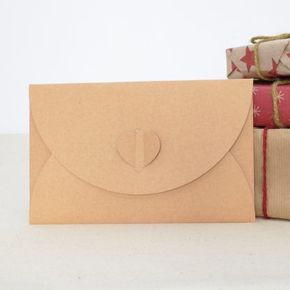 craft paper envelope for love heartwood christmas