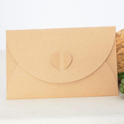 kraft paper envelope for love heartwood gift card