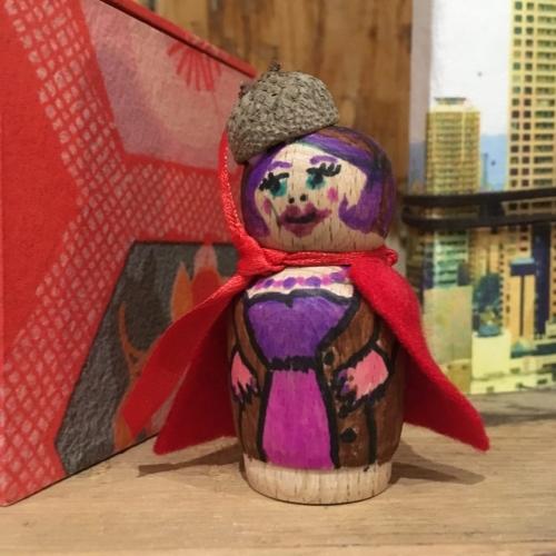 purple peg doll
