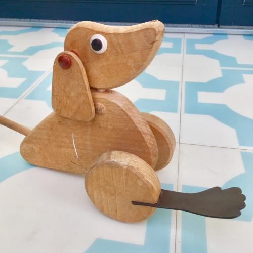 wooden push along dog repair