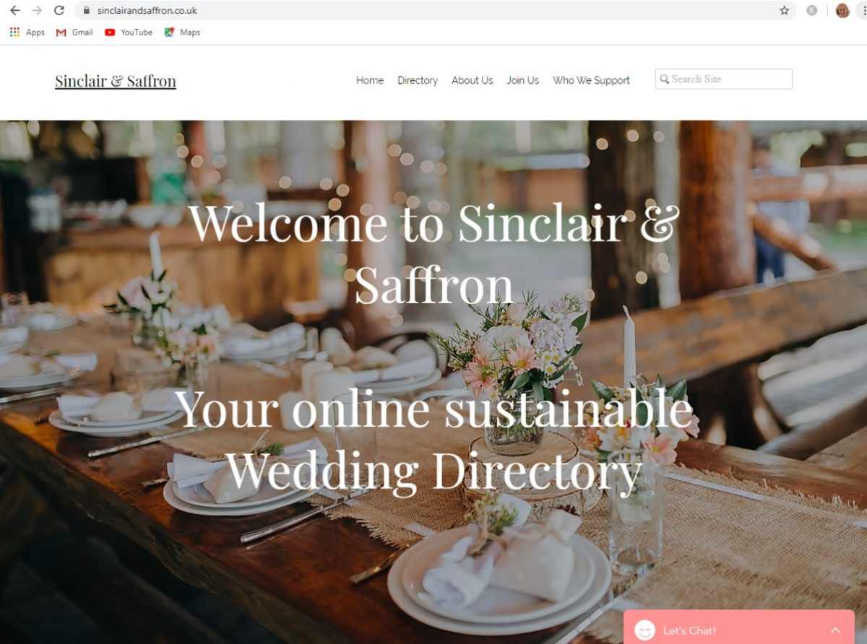 sinclair & saffron sustainable wedding directory