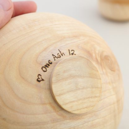 engraved wooden bowl