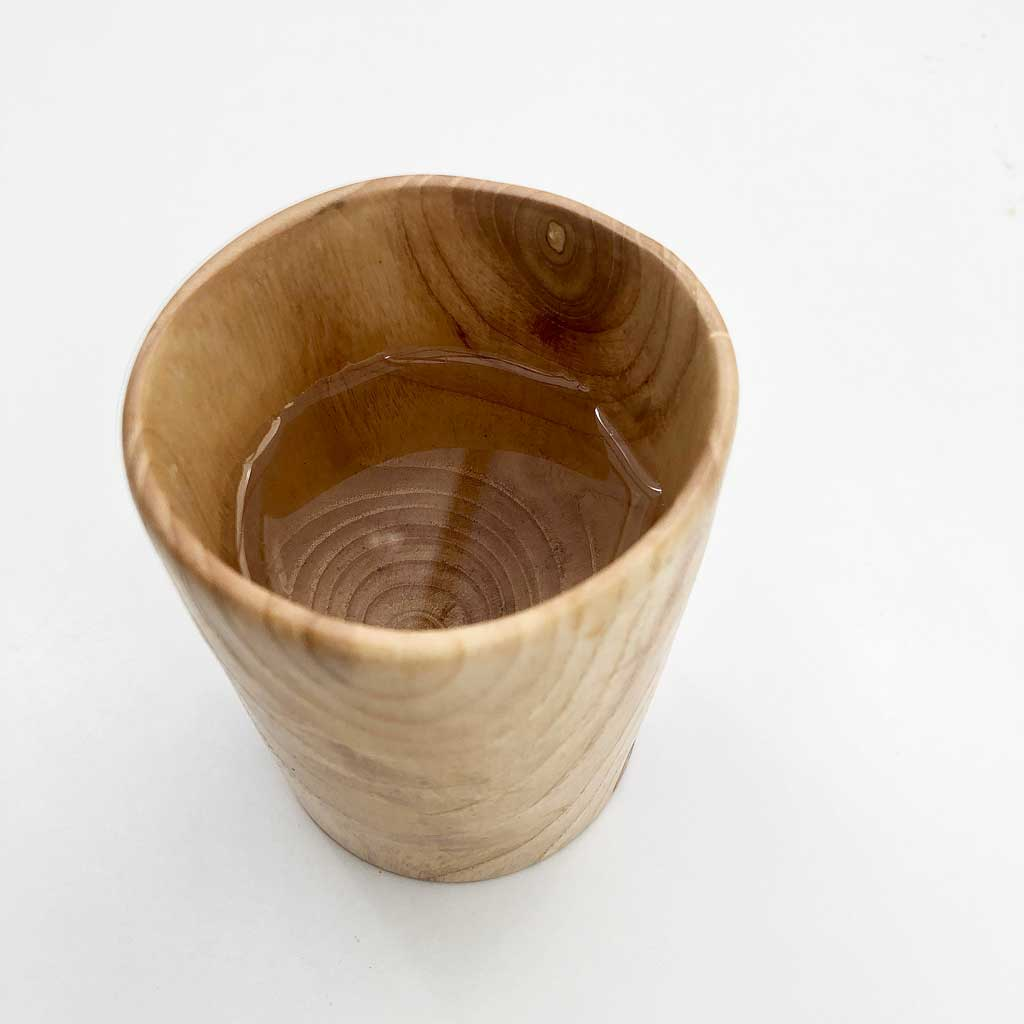 one ash project wooden cup