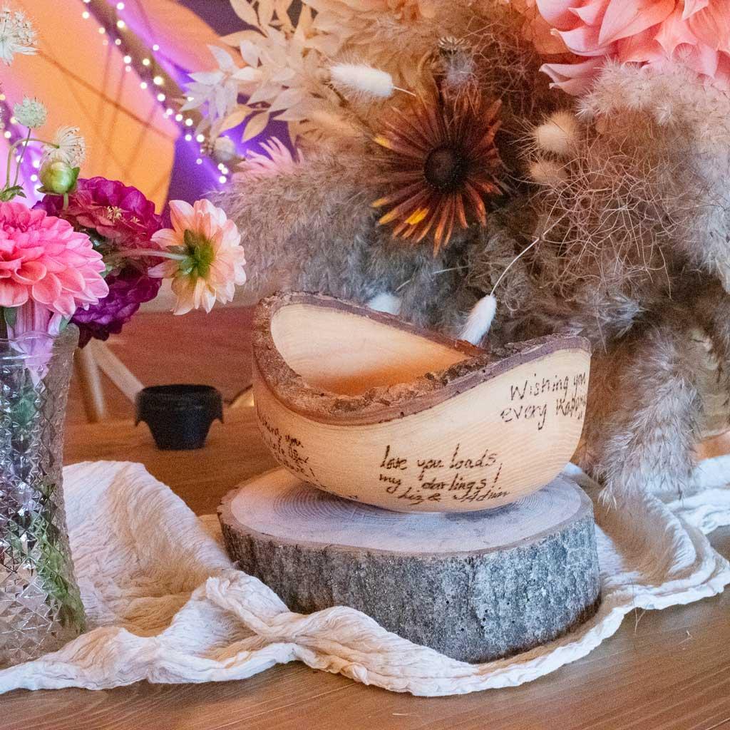 eco wedding bowl alternative guestbook