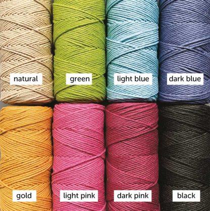 hemp twine in 8 colours
