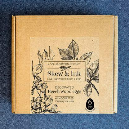 postal box for wooden egg set