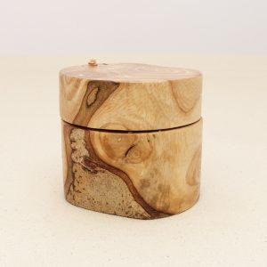 rustic wedding ring box of rowan wood