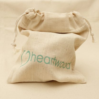 handwoven love heartwood cotton gift bag